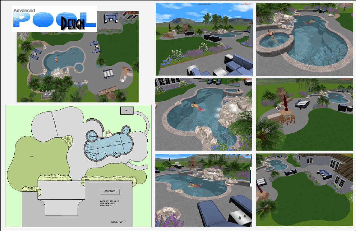 Advanced pool design swimming pool design swimming pool for Pool drawing software
